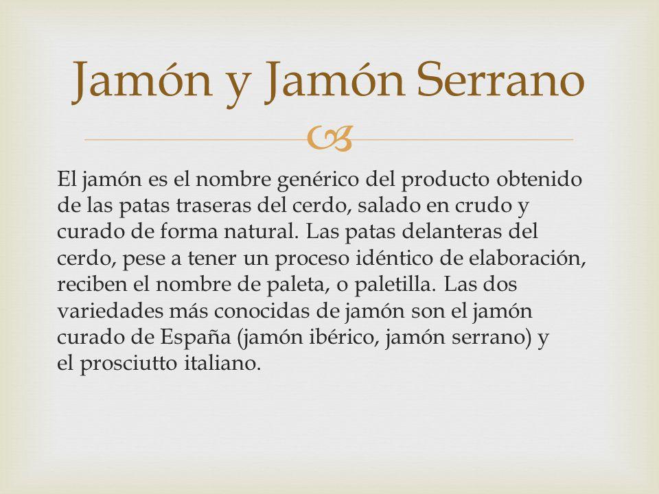 Jamón y Jamón Serrano