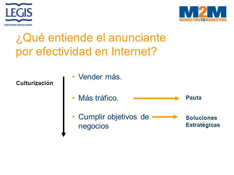 ¿Qué entiende el anunciante por efectividad en Internet