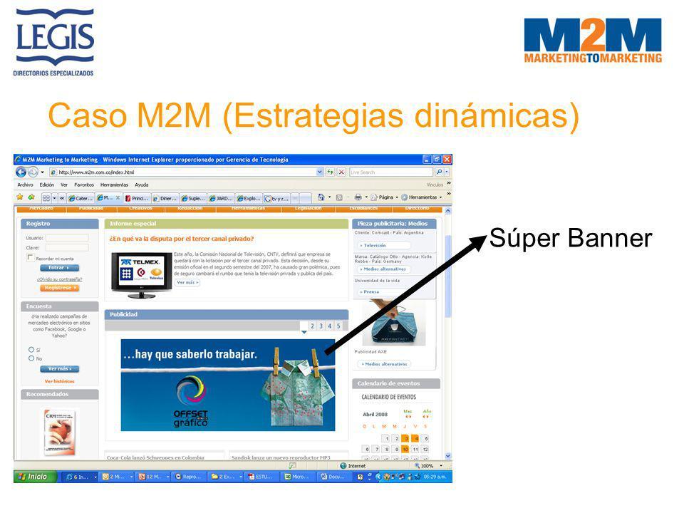 Caso M2M (Estrategias dinámicas)