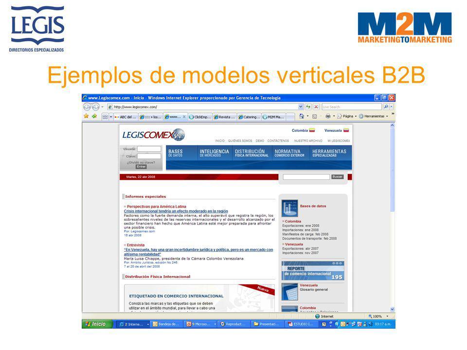 Ejemplos de modelos verticales B2B