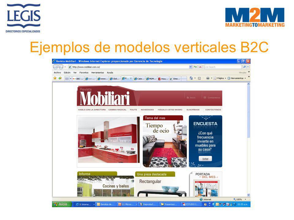 Ejemplos de modelos verticales B2C