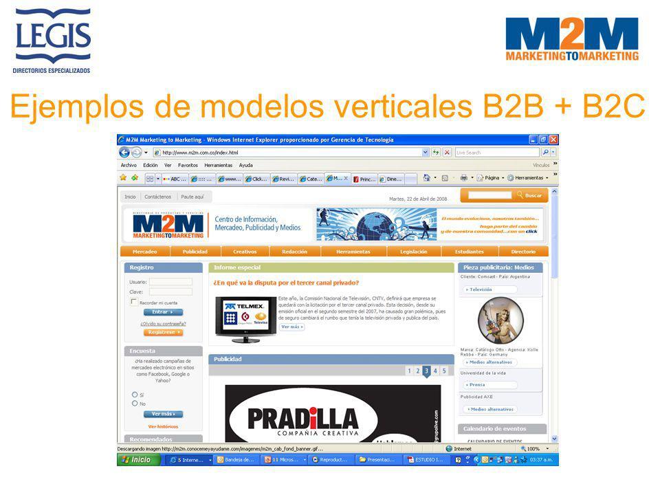 Ejemplos de modelos verticales B2B + B2C