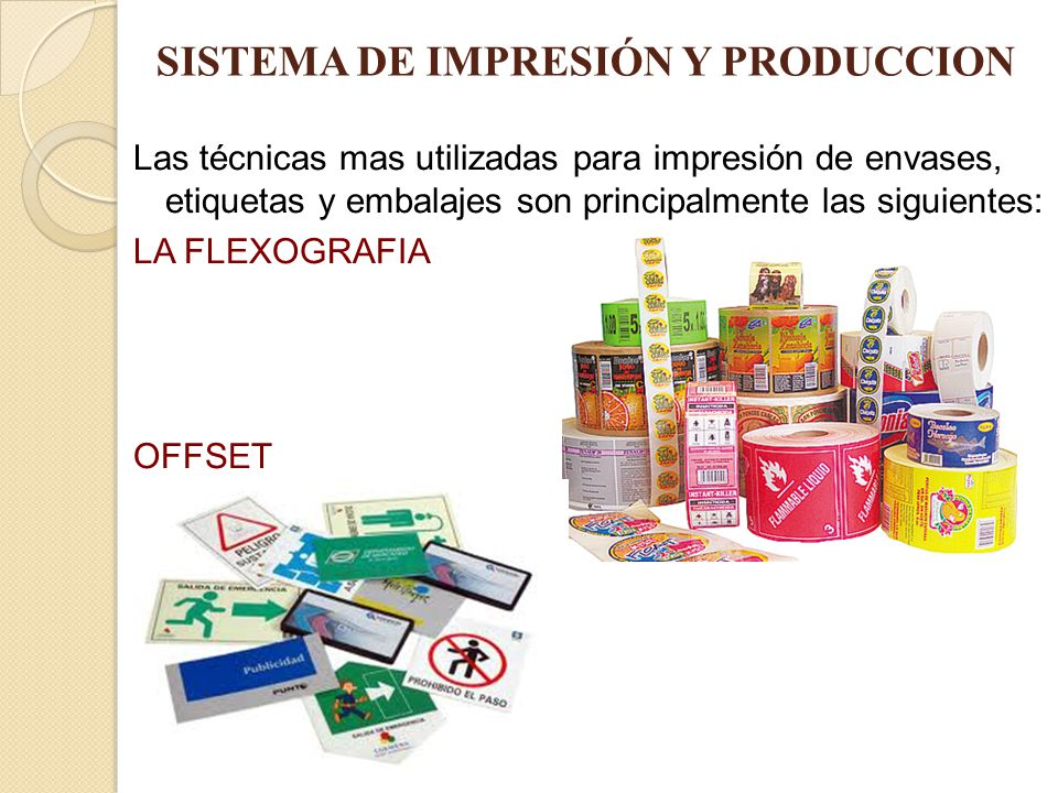 SISTEMA DE IMPRESIÓN Y PRODUCCION