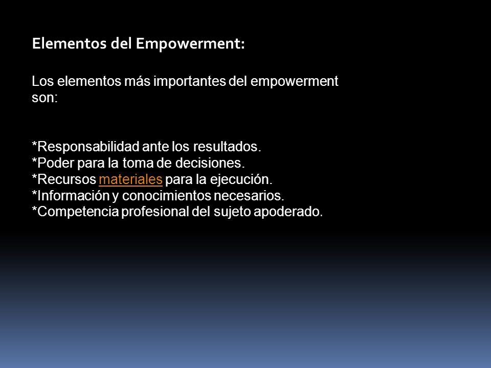 Elementos del Empowerment: