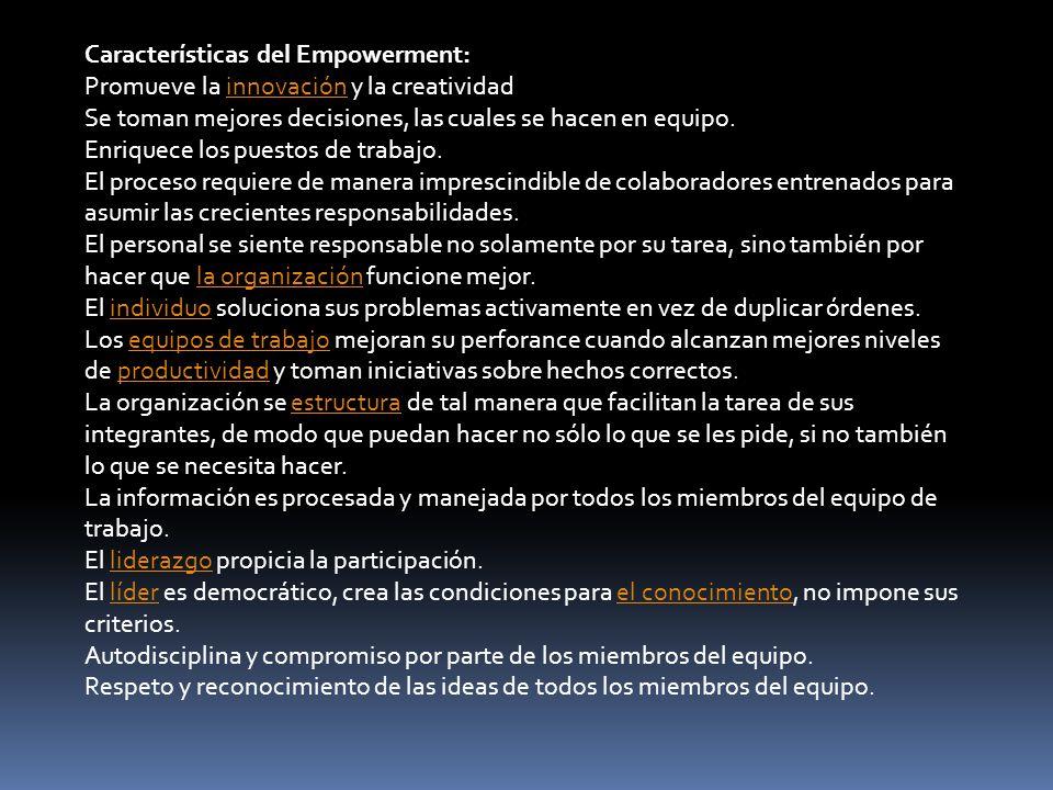 Características del Empowerment: