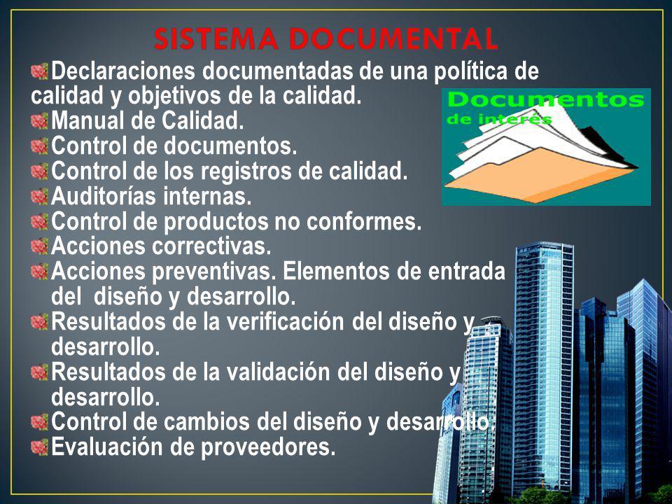 SISTEMA DOCUMENTAL Declaraciones documentadas de una política de