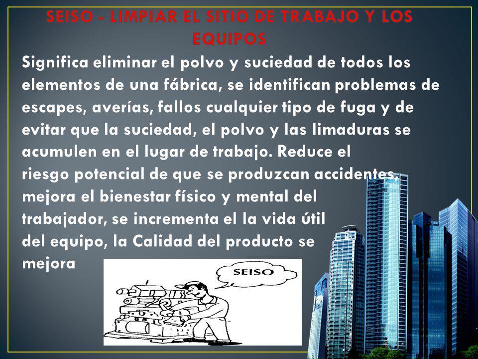SEISO - LIMPIAR EL SITIO DE TRABAJO Y LOS EQUIPOS
