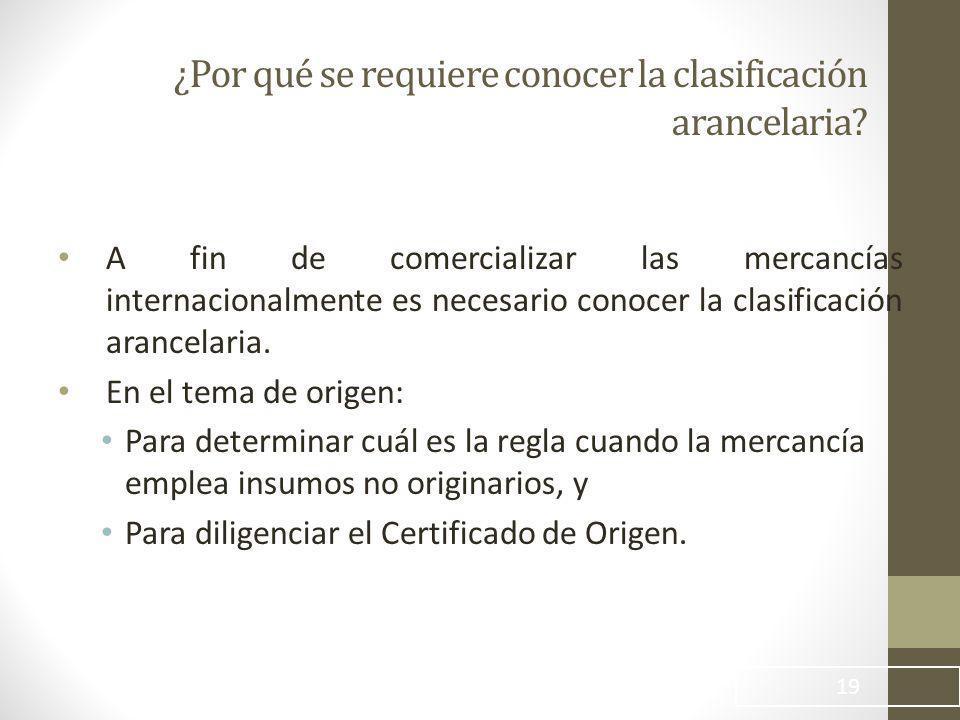 ¿Por qué se requiere conocer la clasificación arancelaria