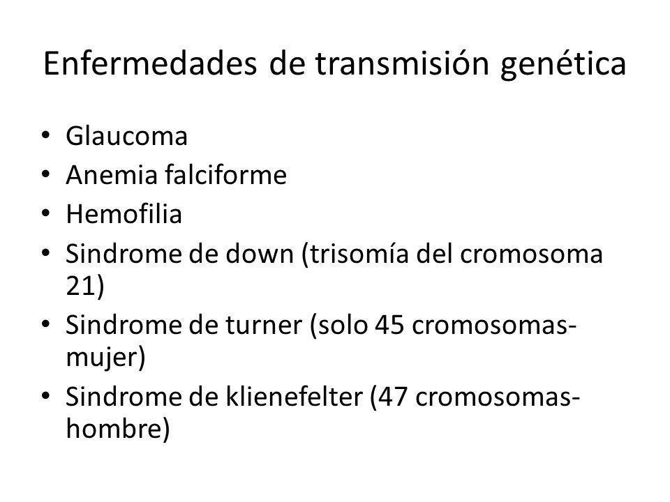 Enfermedades de transmisión genética