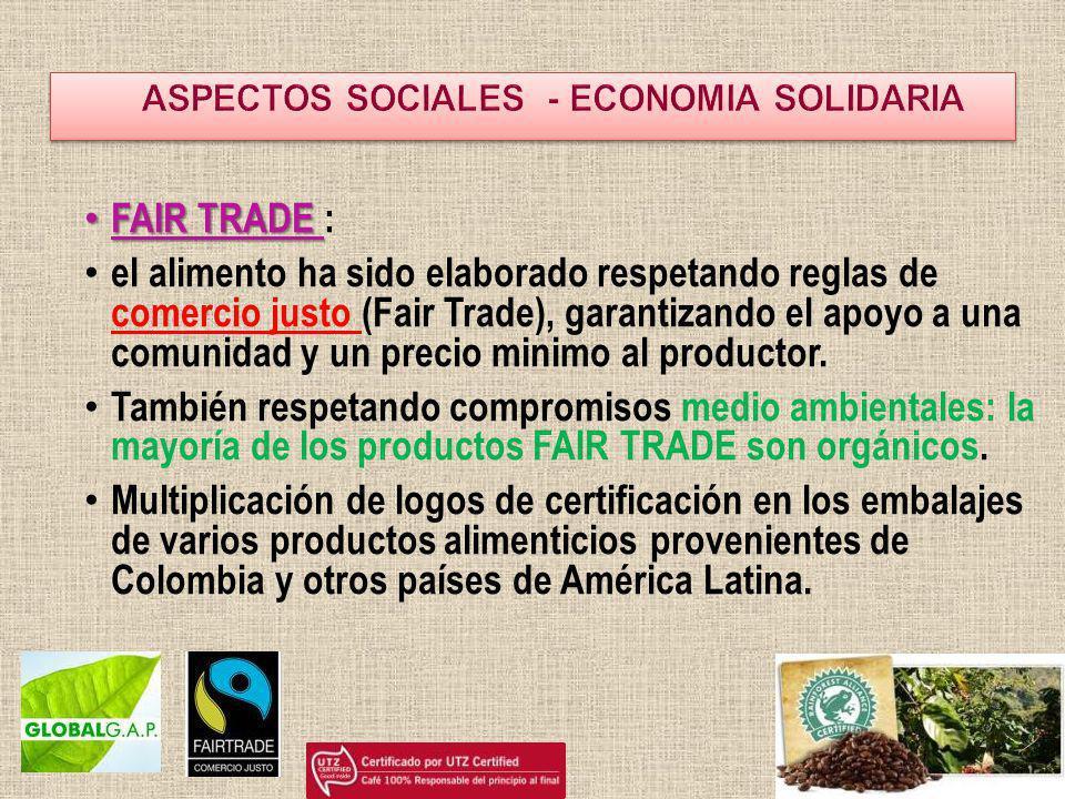 ASPECTOS SOCIALES - ECONOMIA SOLIDARIA
