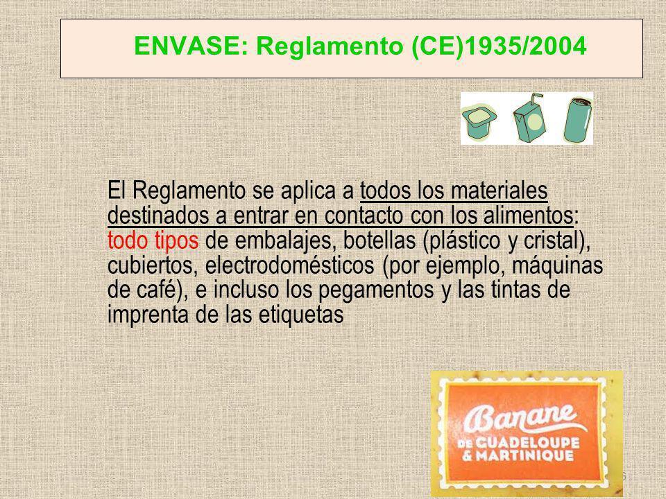 ENVASE: Reglamento (CE)1935/2004