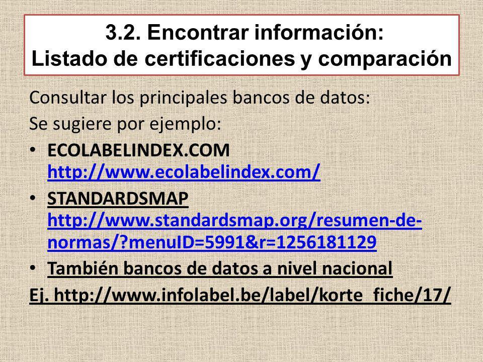 3.2. Encontrar información: Listado de certificaciones y comparación