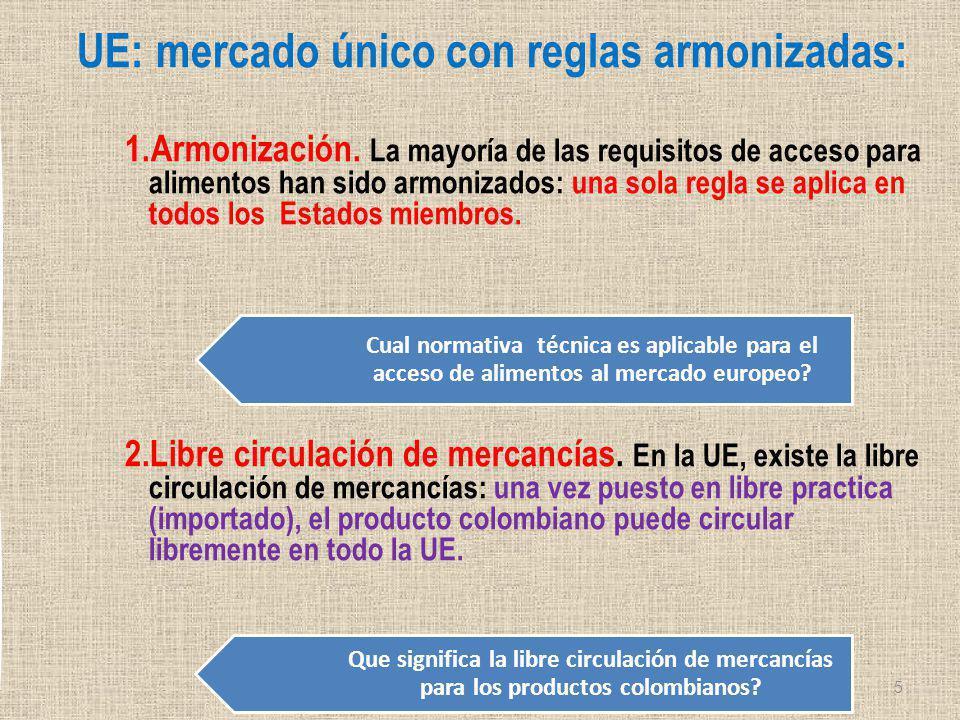 UE: mercado único con reglas armonizadas: