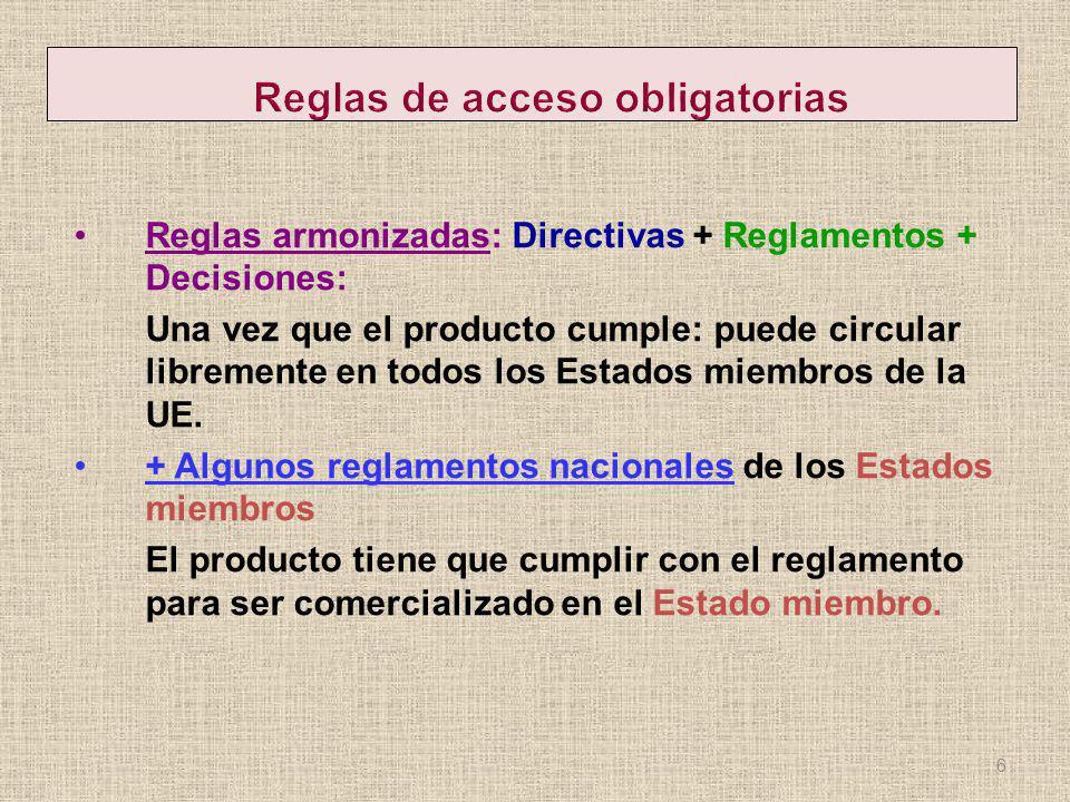 Reglas de acceso obligatorias
