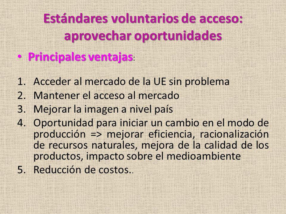 Estándares voluntarios de acceso: aprovechar oportunidades