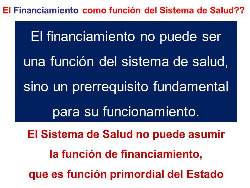 El Financiamiento como función del Sistema de Salud