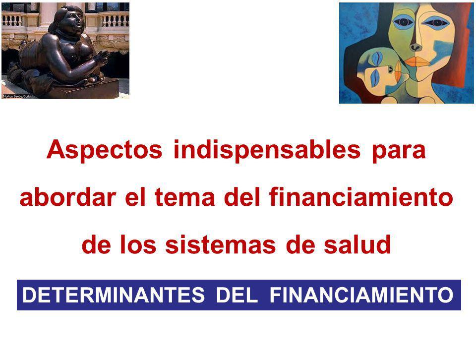 Aspectos indispensables para abordar el tema del financiamiento de los sistemas de salud