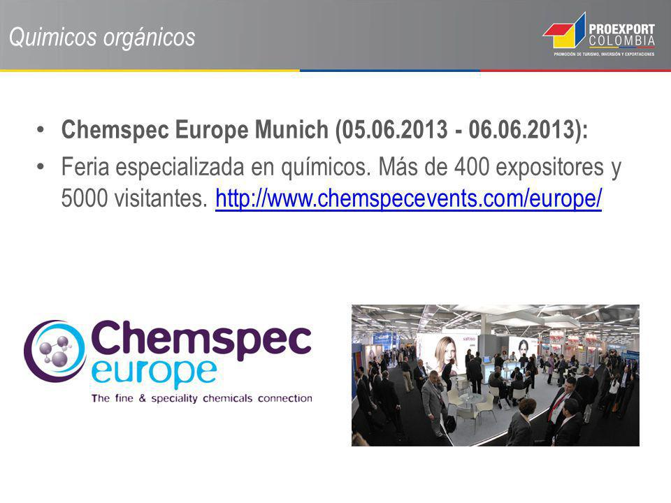 Quimicos orgánicos Chemspec Europe Munich (05.06.2013 - 06.06.2013):