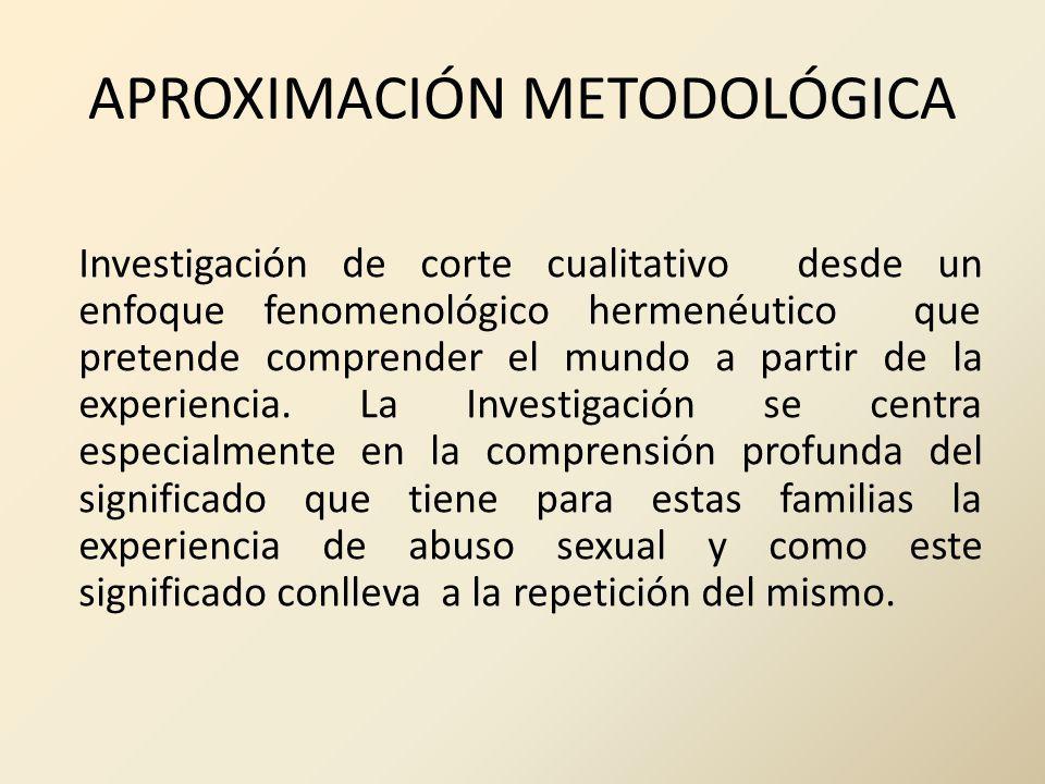APROXIMACIÓN METODOLÓGICA