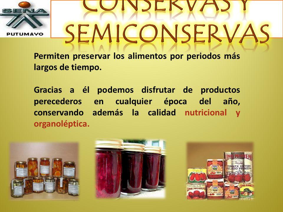 CONSERVAS Y SEMICONSERVAS