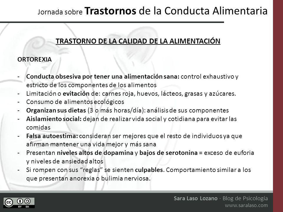 TRASTORNO DE LA CALIDAD DE LA ALIMENTACIÓN