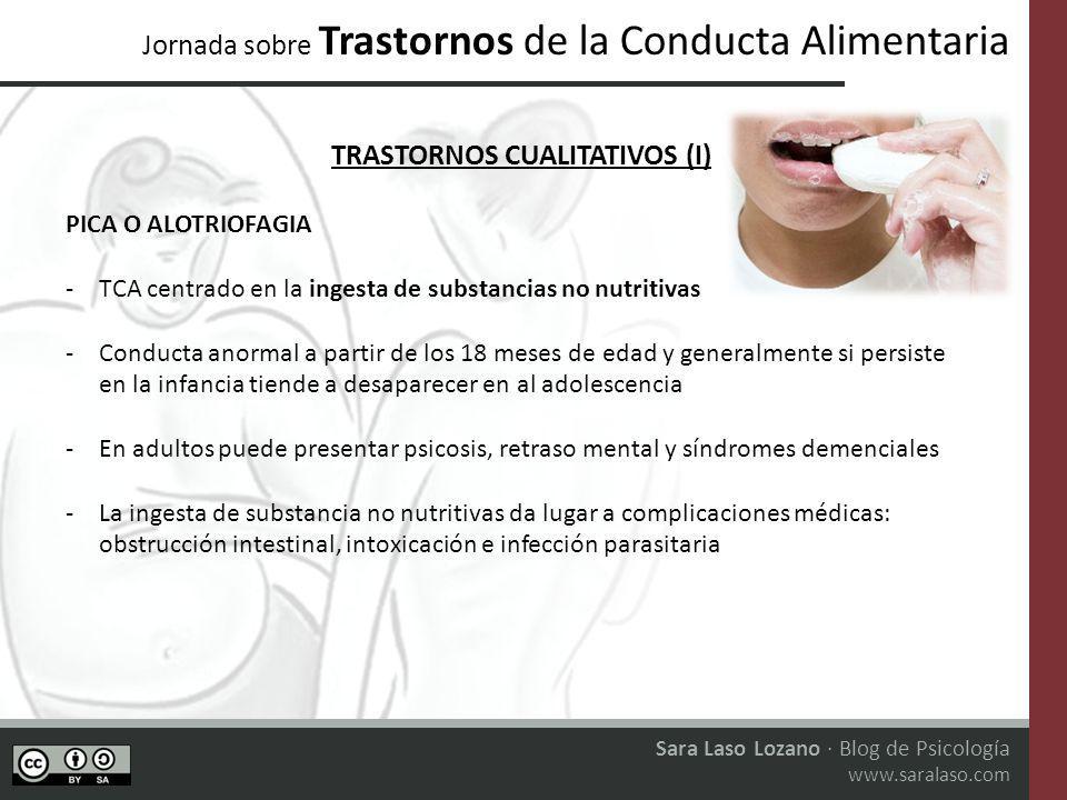 TRASTORNOS CUALITATIVOS (I)