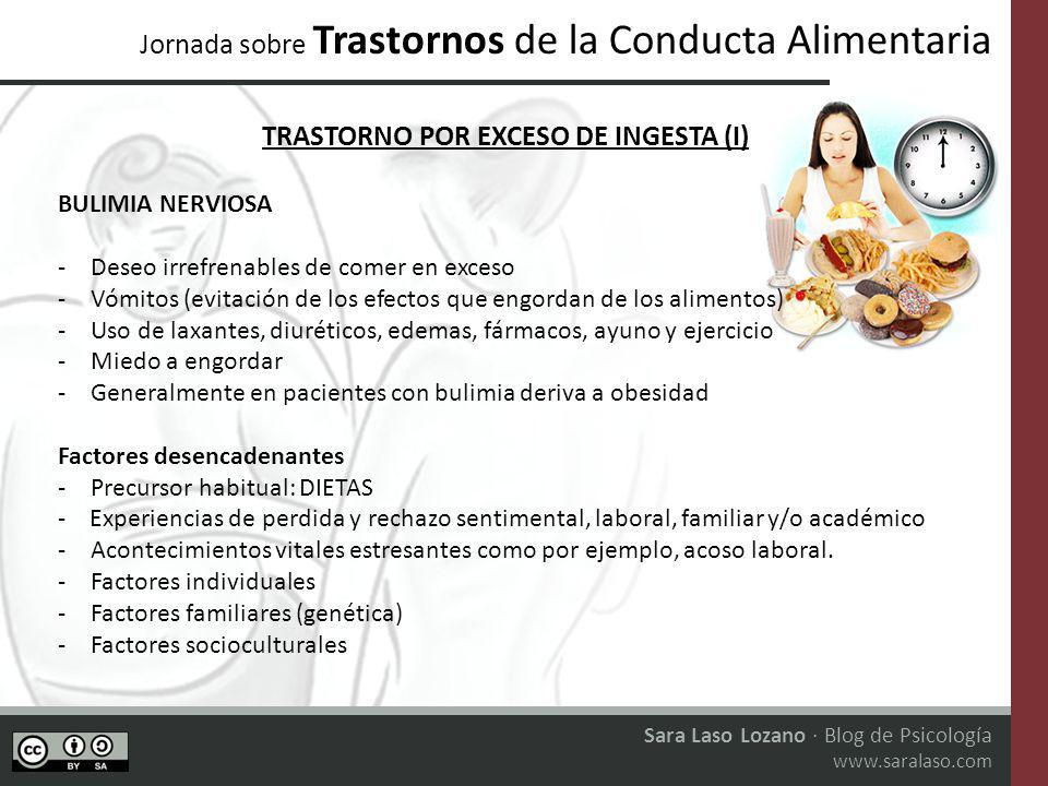 TRASTORNO POR EXCESO DE INGESTA (I)