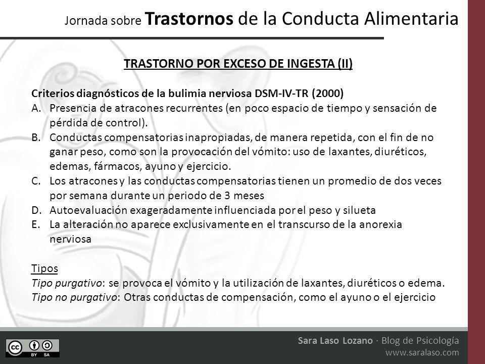 TRASTORNO POR EXCESO DE INGESTA (II)