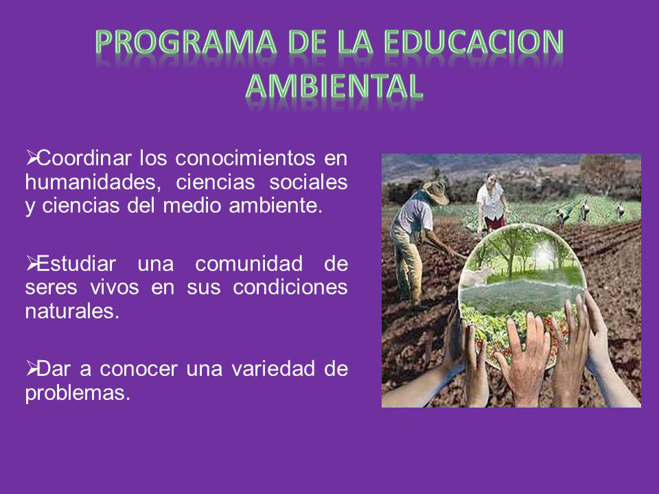 PROGRAMA DE LA EDUCACION