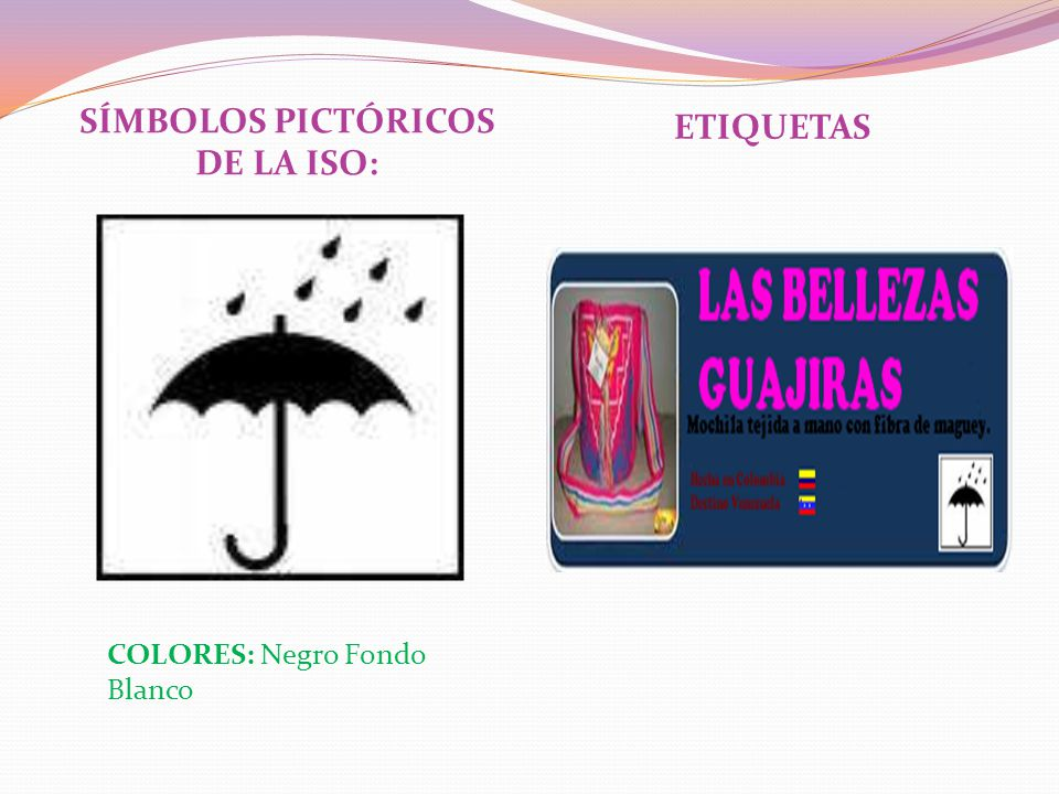 SÍMBOLOS PICTÓRICOS DE LA ISO: