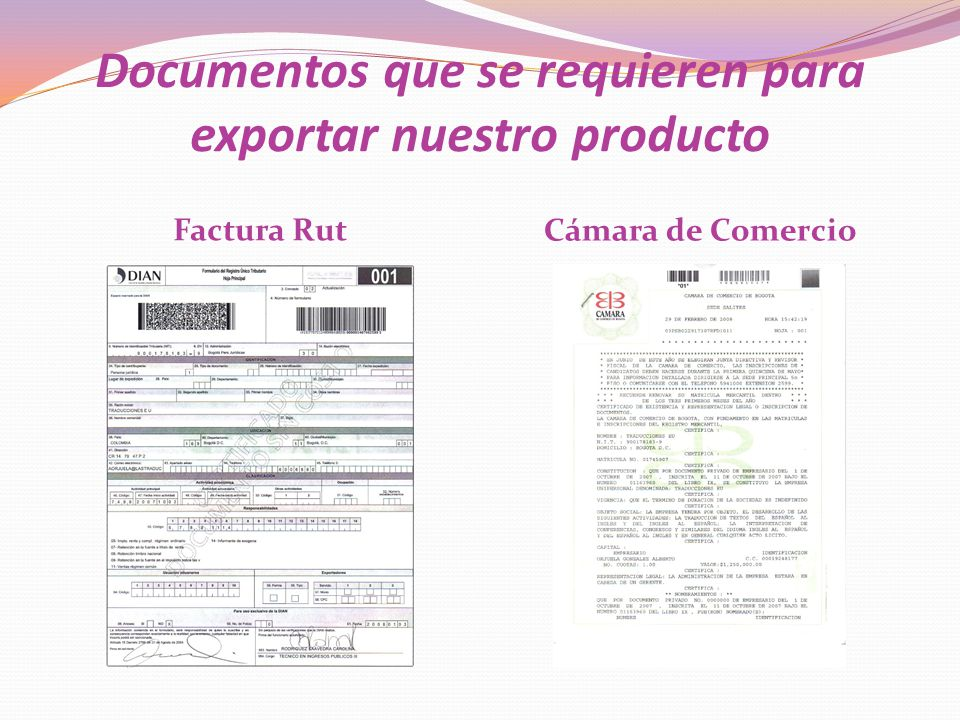 Documentos que se requieren para exportar nuestro producto