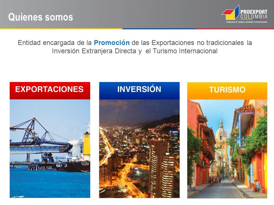 Quienes somos Entidad encargada de la Promoción de las Exportaciones no tradicionales la Inversión Extranjera Directa y el Turismo Internacional.