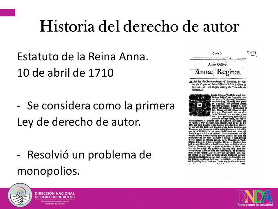 Historia del derecho de autor