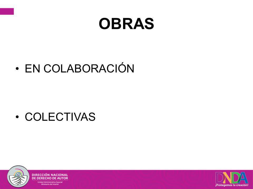 OBRAS EN COLABORACIÓN COLECTIVAS