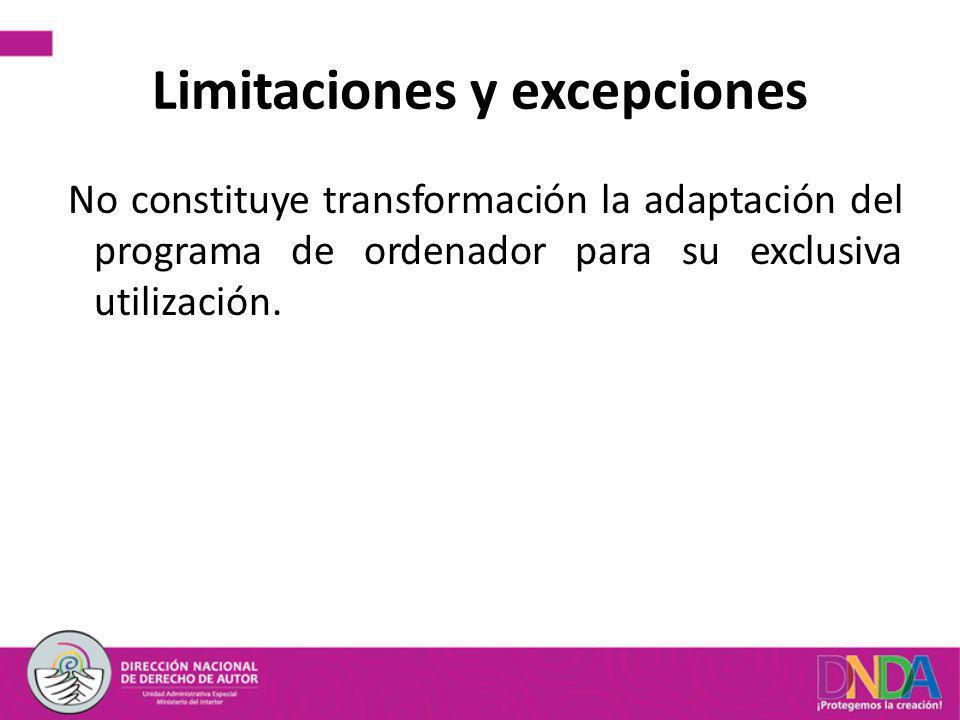 Limitaciones y excepciones