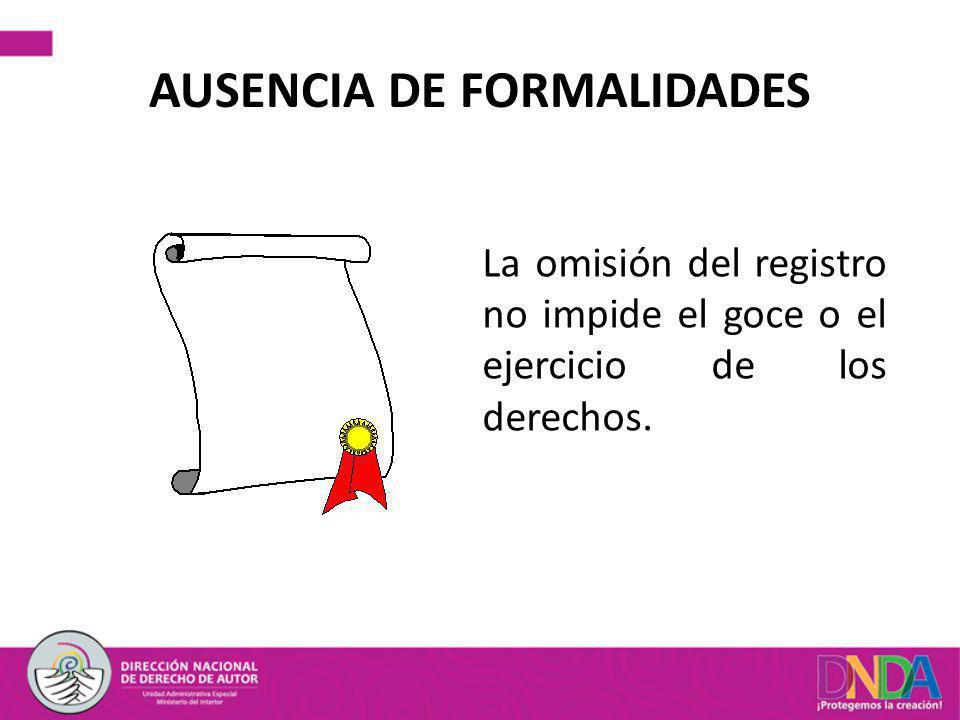 AUSENCIA DE FORMALIDADES