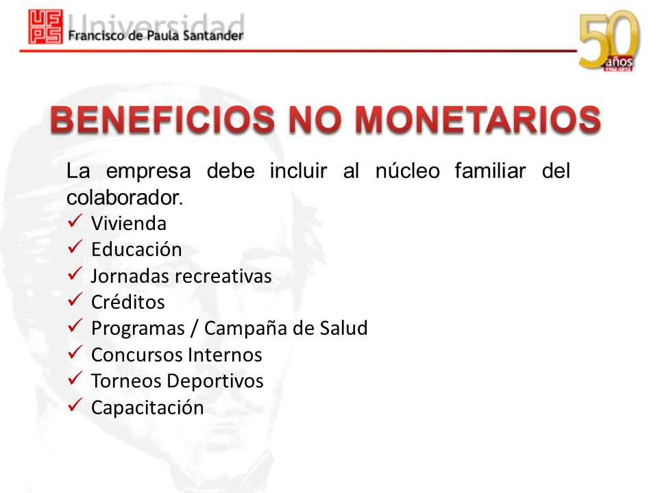 BENEFICIOS NO MONETARIOS