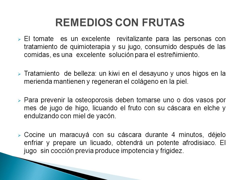 REMEDIOS CON FRUTAS