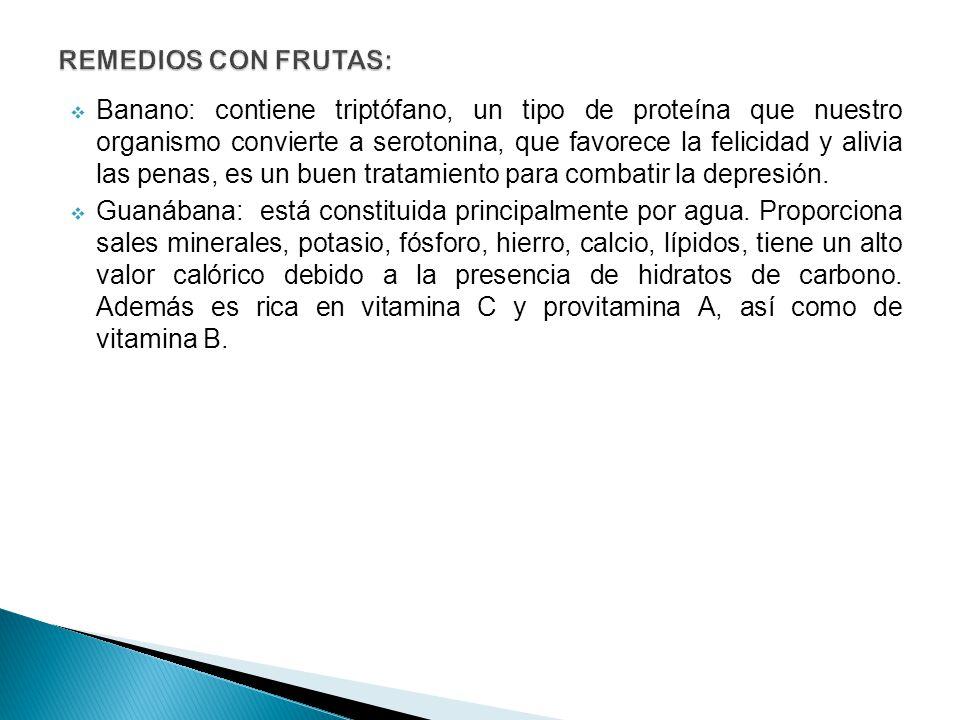 REMEDIOS CON FRUTAS:
