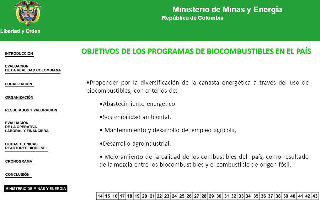 Ministerio de Minas y Energía República de Colombia