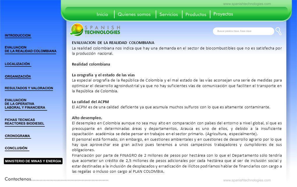 EVALUACION DE LA REALIDAD COLOMBIANA