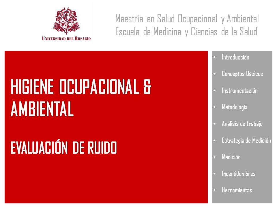HIGIENE OCUPACIONAL & AMBIENTAL EVALUACIÓN DE RUIDO