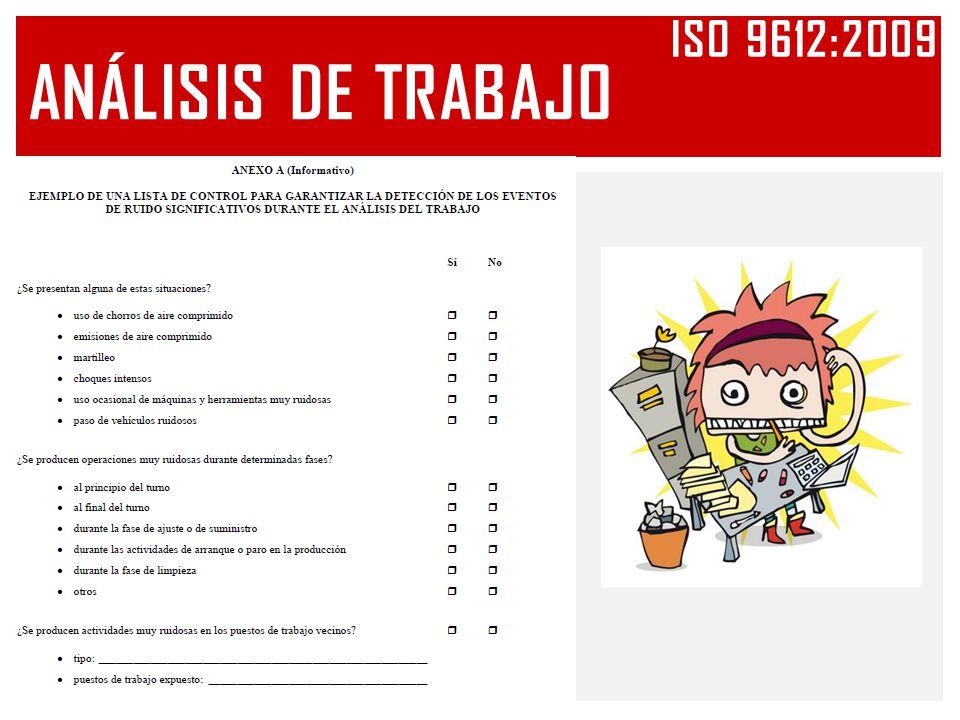 Iso 9612:2009 ANÁLISIS DE TRABAJO