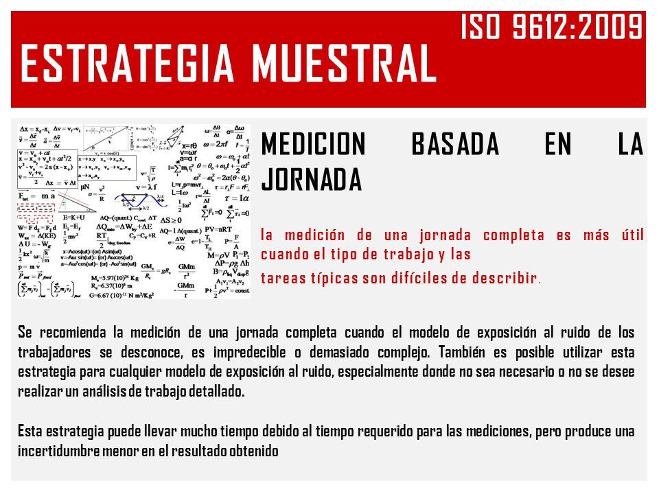 ESTRATEGIA MUESTRAL Iso 9612:2009 MEDICION BASADA EN LA JORNADA