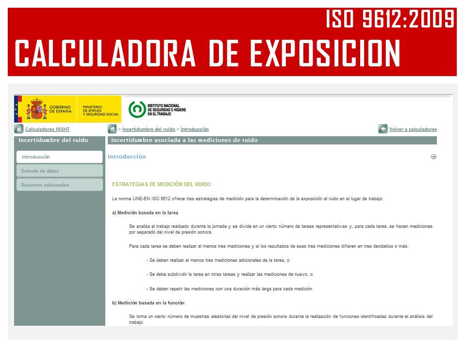 CALCULADORA DE EXPOSICION