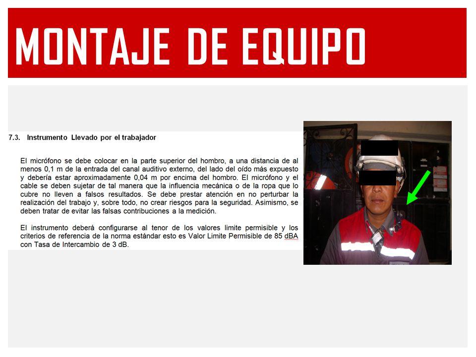 MONTAJE DE EQUIPO
