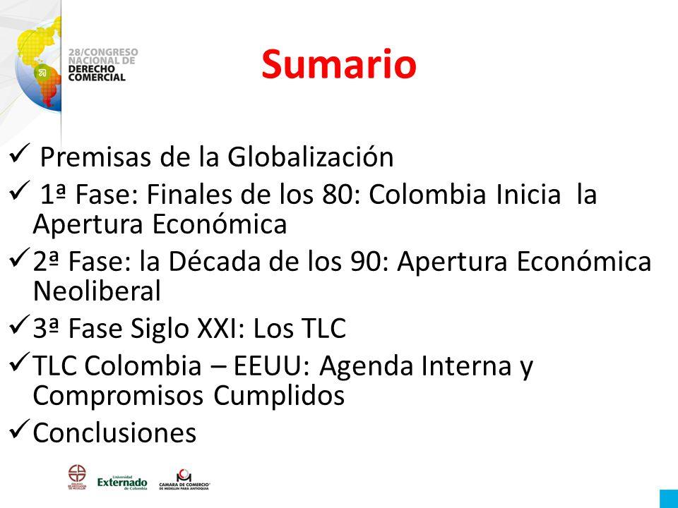 Sumario Premisas de la Globalización