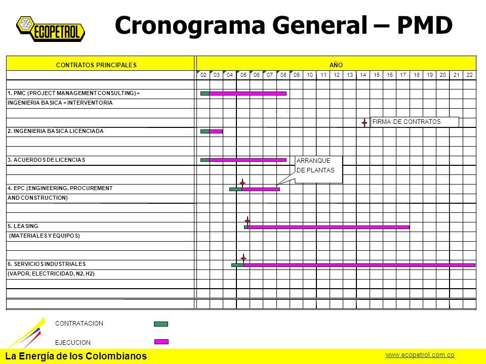 Cronograma General – PMD