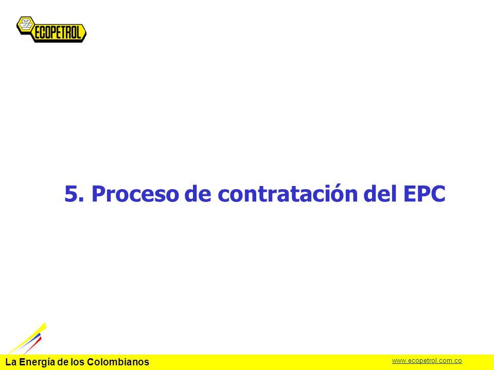 5. Proceso de contratación del EPC