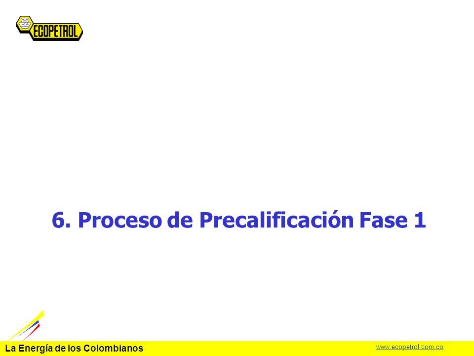 6. Proceso de Precalificación Fase 1